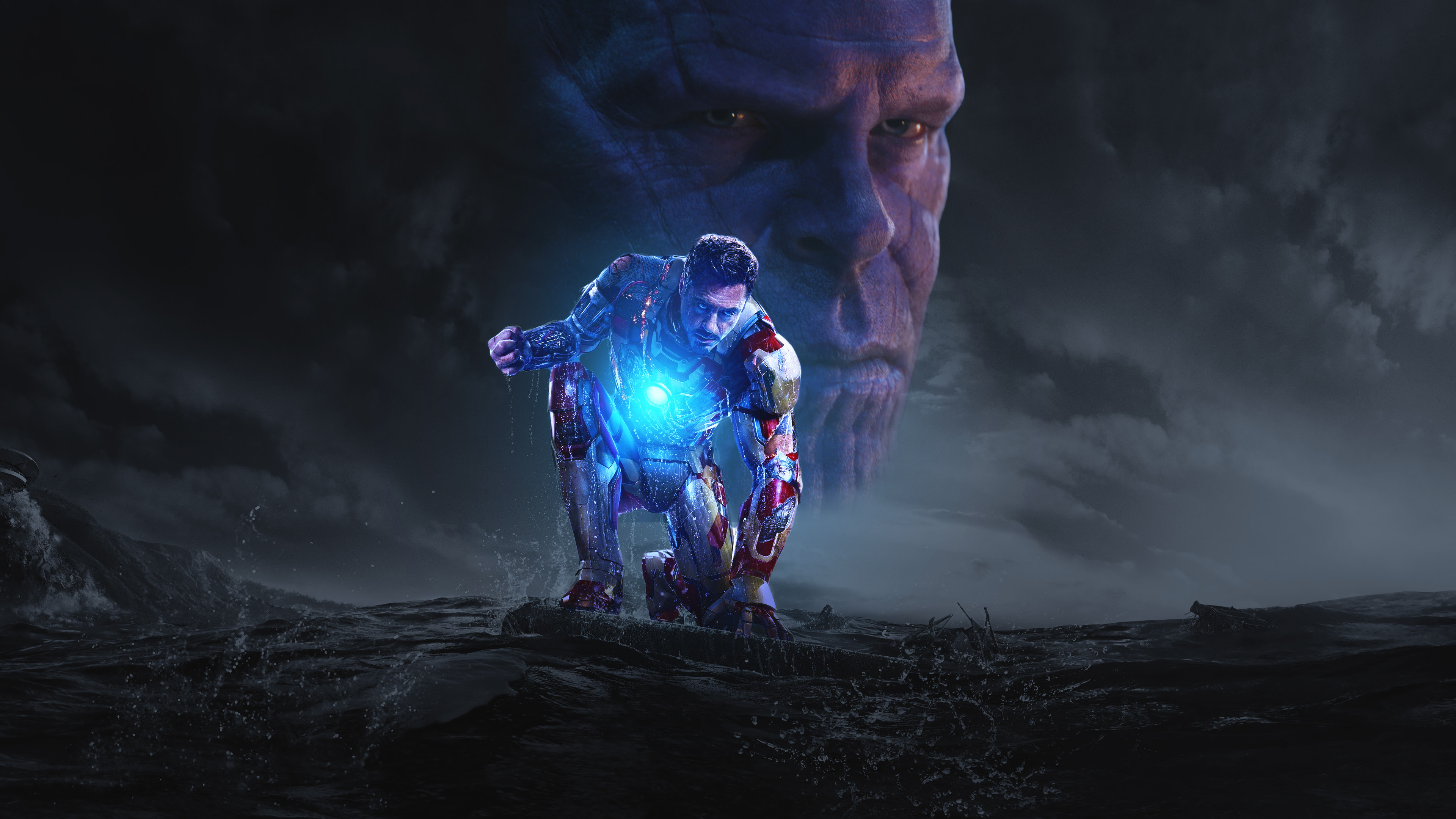 Iron Man And Thanos In Avengers Infinity War Hd Superheroes 4k