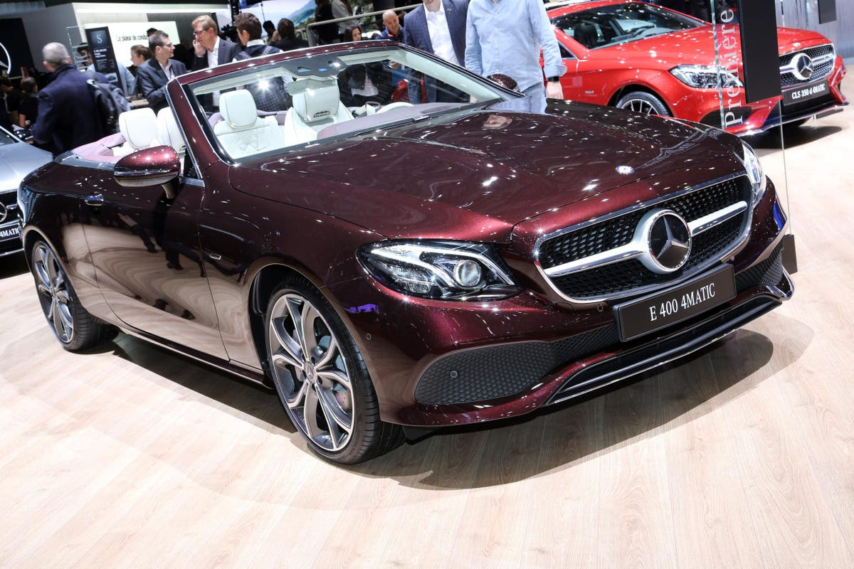 Mercedes' presence at Geneva was quite extensive. It included a new E-Class Cabriolet, ...
