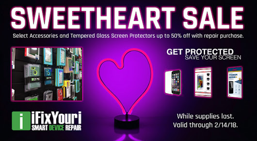 Sweetheart Sale! Smartphone Accessories, Tempered Glass on Sale, Up to 50% OFF