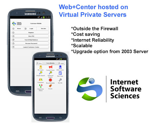 Web+Center hosted on Virtual Private Servers - | Internet Software Sciences | Help Desk Software