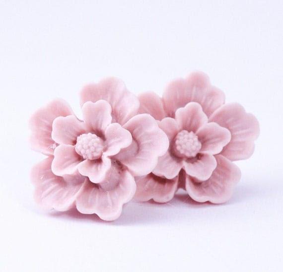 Pale Pink Sakura Post Earrings