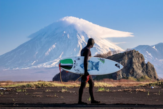 Surfing Among Ice-Covered Volcanoes in Kamchatka, Russia - Resource Travel