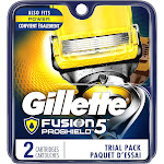 Gillette Fusion5 ProShield Razor Refill Cartridges with Anti-Friction Blades, 2 Count