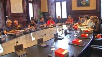 La mesa del Parlament