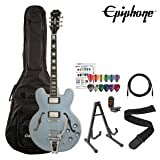 Epiphone ESS355 Pelham Blue Kit- Includes: Gig Bag, Stand, Strap, Cable, Tuner and Pick Sampler