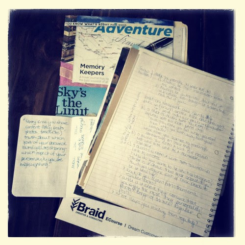 Journals and Notes from 2012 eCourses