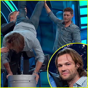Jared Padalecki Does a Keg Stand for His Birthday! (Video)