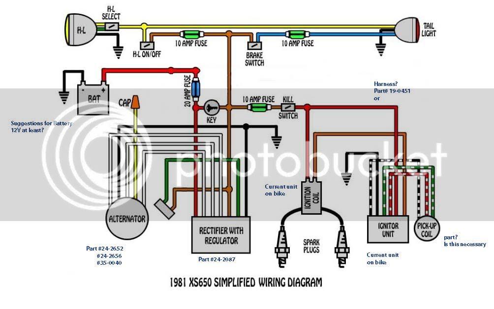Yamaha Xs650 Wiring Harnes Diagram - Wiring Diagram Schemas