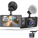 3 Camera 1080P Car DVR with Dual Lens and Loop Recording for Safe Driving