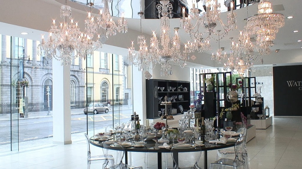 main showroom at house of waterford crystal - waterford - ireland