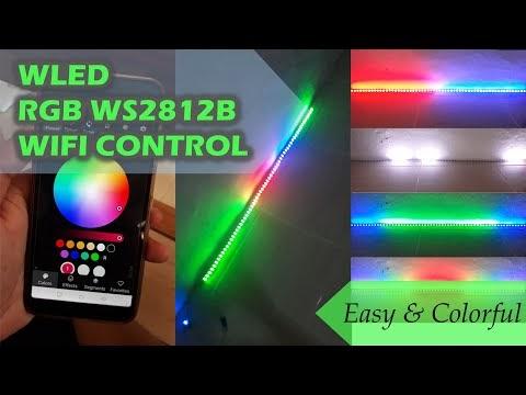 WLED LED RGB WS2812B dan Wemos D1 Mini