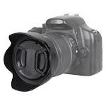 Bower - Pro Series Tulip Lens Hood and Lens Cap for Most 58mm Lenses - Black