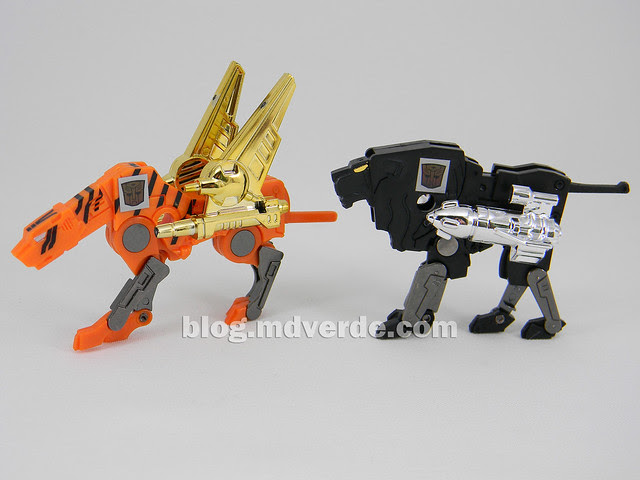 Transformers Stripes - G1 Encore - modo robot vs NightStalker