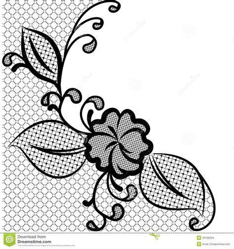 Lace corner stock vector. Illustration of feminine