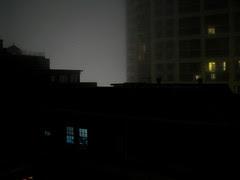 windows in the fog