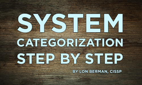RMF's System Categorization: Step by Step