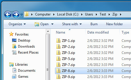 zip compression