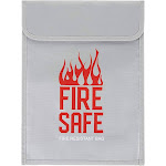 Fire Resistant Document Bag - Fire Resistant Storage Bag for Money, Legal Files, Photos, Passport, Laptop, Waterproof, Silicone Coated Fireproof