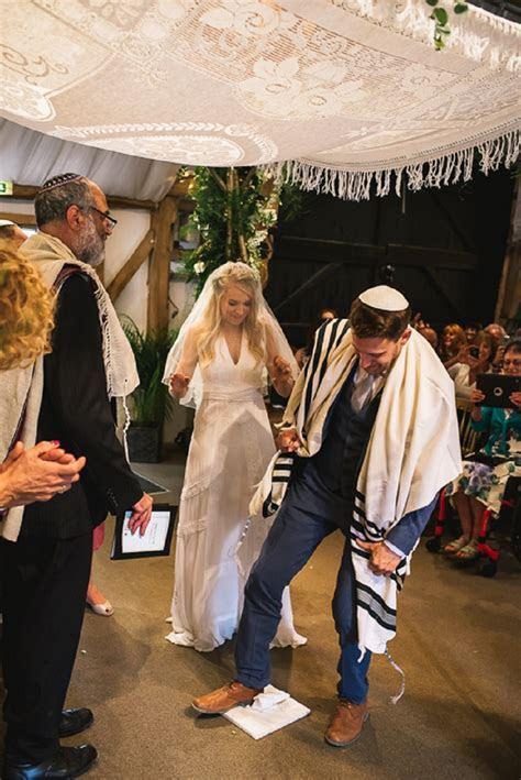 A fun festival Masorti Jewish wedding with a bride in an