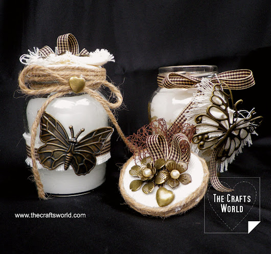 Candle jars, vintage style - The Crafts World