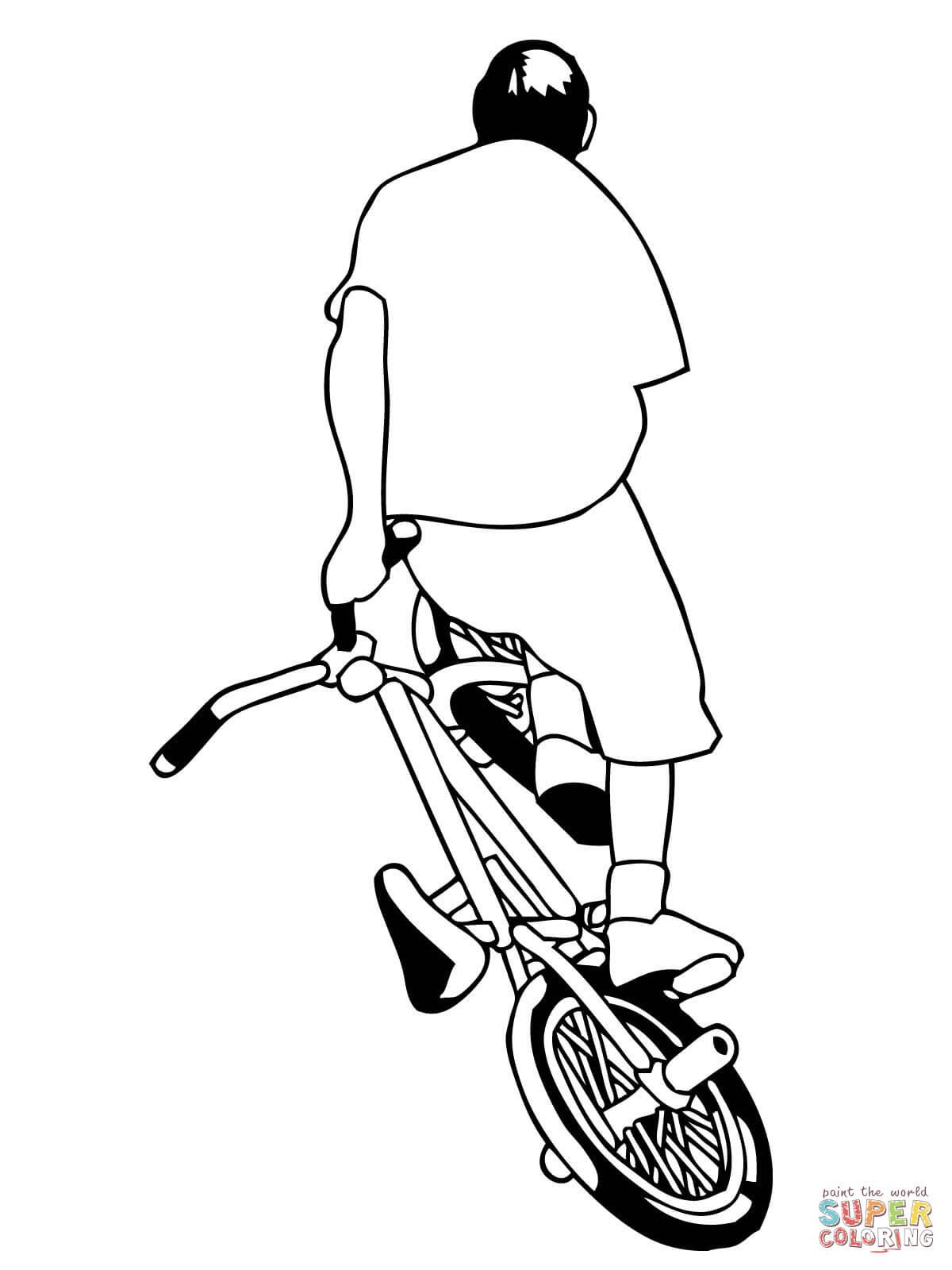 er sur la Vélo BMX coloriages pour visualiser la version imprimable ou colorier en ligne patible avec les tablettes iPad et Android