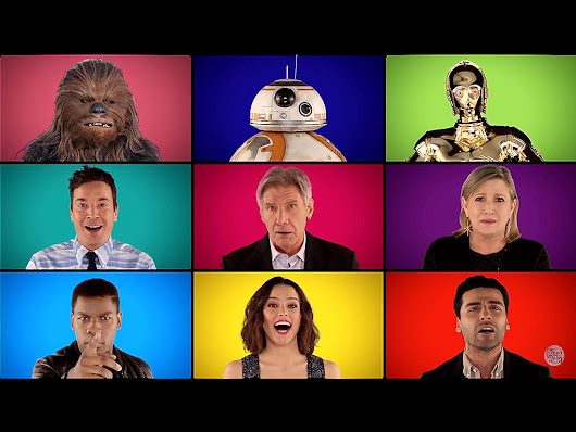 Watch Jimmy Fallon Sing Star Wars Medley A Capella with Carrie Fisher, Daisy Ridley, Harrison Ford and More