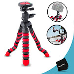 """12"""" Inch Flexible Tripod with Quick Release Plate for Nikon D5500, D5300, D5200, D5100, D750, D7100, D7000, D810, D810A, D800, D610, D600, D3300,"""