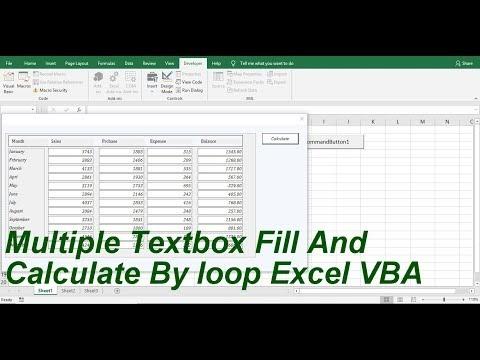 Populate Textbox Vba Excel