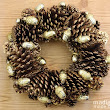 Gilded Pinecone Wreath Idea ~ Madigan Made { simple DIY ideas }