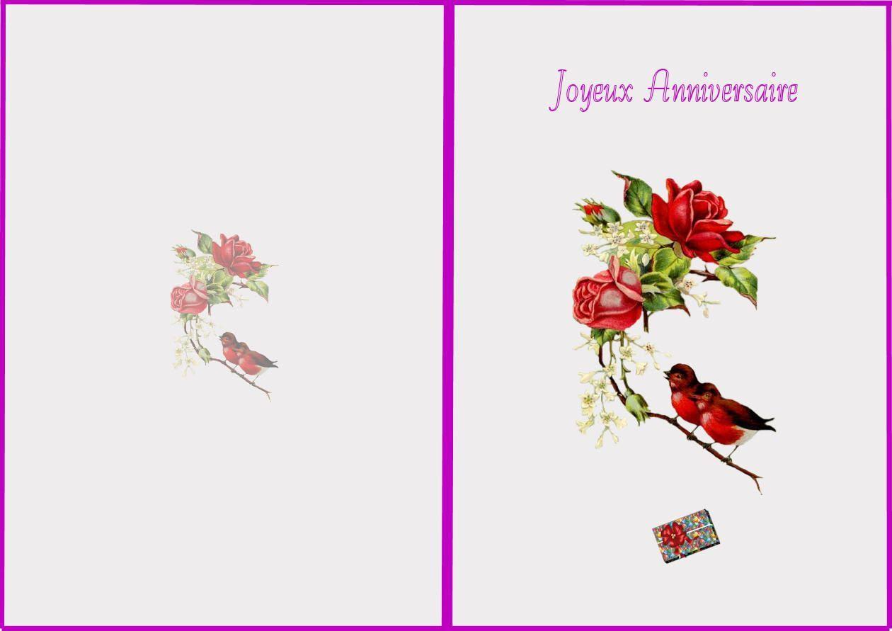 Carte Anniversaire A Imprimer Gratuite Pour Femme Nanaryuliaortega Blog