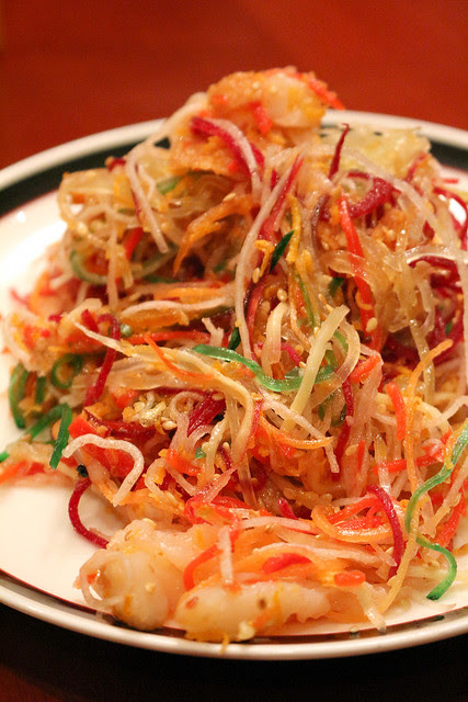 It's tasty too, this decadent yusheng