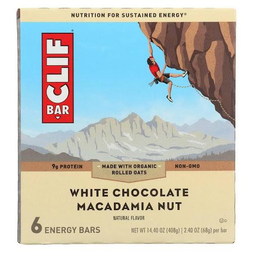 Clif Energy Bar, White Chocolate Macadamia Nut - 6 pack, 14.4 oz box