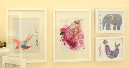 image framed children's art artwork upcycled painting tutorial diy sarah jane