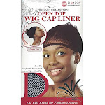 Donna's Premium Open Top Wig Cap Liner Comfortable Elastic Band (black)