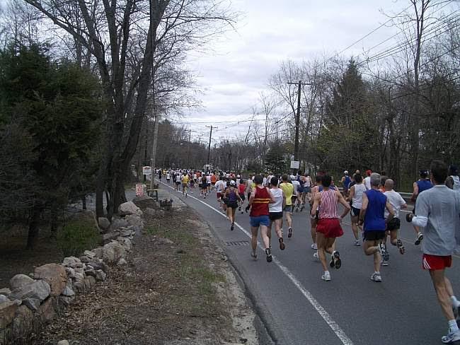boston marathon course. The Boston Marathon Course