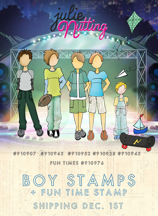 *New* Boy Stamps by Julie Nutting for Prima!
