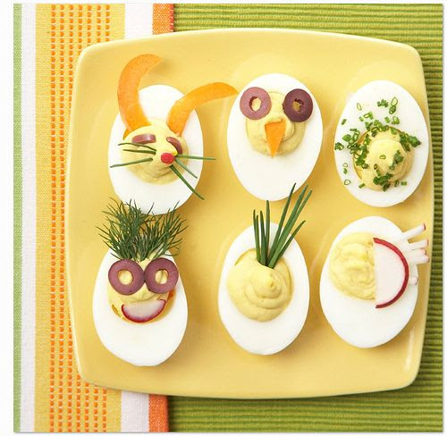 Deviled bunny eggs are perfect for easter or passover. After all, eggs are a staple at both seder and easter tables. For passover, decorate the eggs with some traditional symbols… maybe one of the 10 plagues? *Fresh Direct Blog