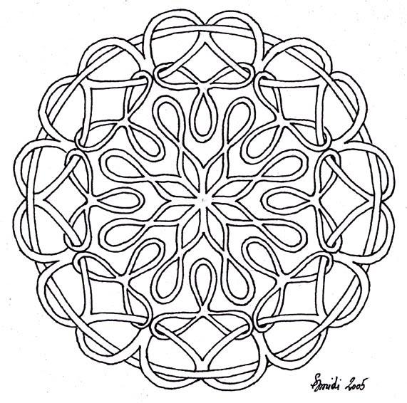 Mandalas Mit Ornamente Vorlagen