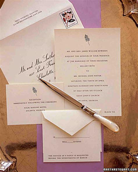 The Etiquette of Wedding Invitation Enclosures   Martha