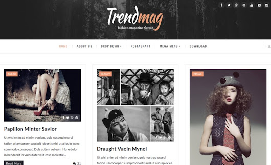 Trendmag Blogger Template • Latest Templates 2015