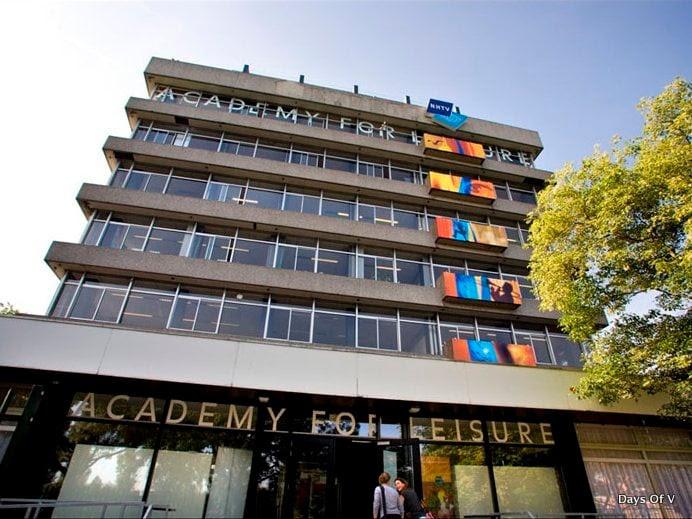 NHTV-gebouw aan de Archimedesstraat in Breda.