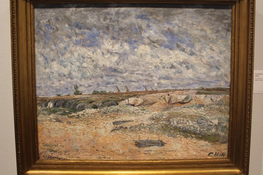 """Carl Fredrik Hill: """"Landskab med drivende skyer, 1876. Olie på lærred, 64 x 81 cm. Malmø Kunstmuseum. Photo 27. n"""