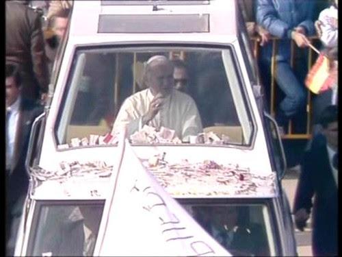 Visita de Juan Pablo II a Toledo. 4 de Noviembre de 1982.