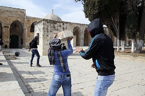 """This is how three eastern Jerusalem Arabs planned to """"greet"""" Moshe Feiglin and Yehuda Glick on the Temple Mount."""