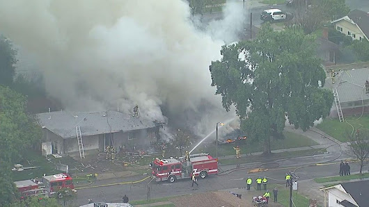 Small plane crashes into Riverside home |