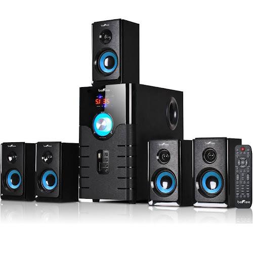 Befree Sound Surround Sound Speaker System - 5.1 Channel - Bluetooth - Black/Blue