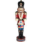 Northlight 5' LED Lighted Commercial Grade Animated & Musical Drumming Nutcracker Christmas Decoration