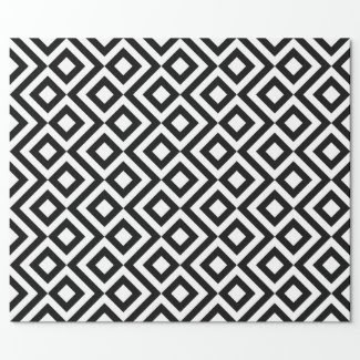 Black and White Chevrons Gift Wrap