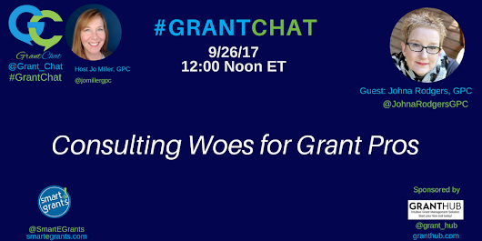 Consulting Woes for Grant Pros - #GrantChat