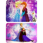 Danawares Large Colorful Placemat BPA Free - Includes 2 Placemats with Disney Frozen Design and Graphics
